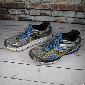 "Saucony grey & blue  ""OMNI 12"" running shoe 12"